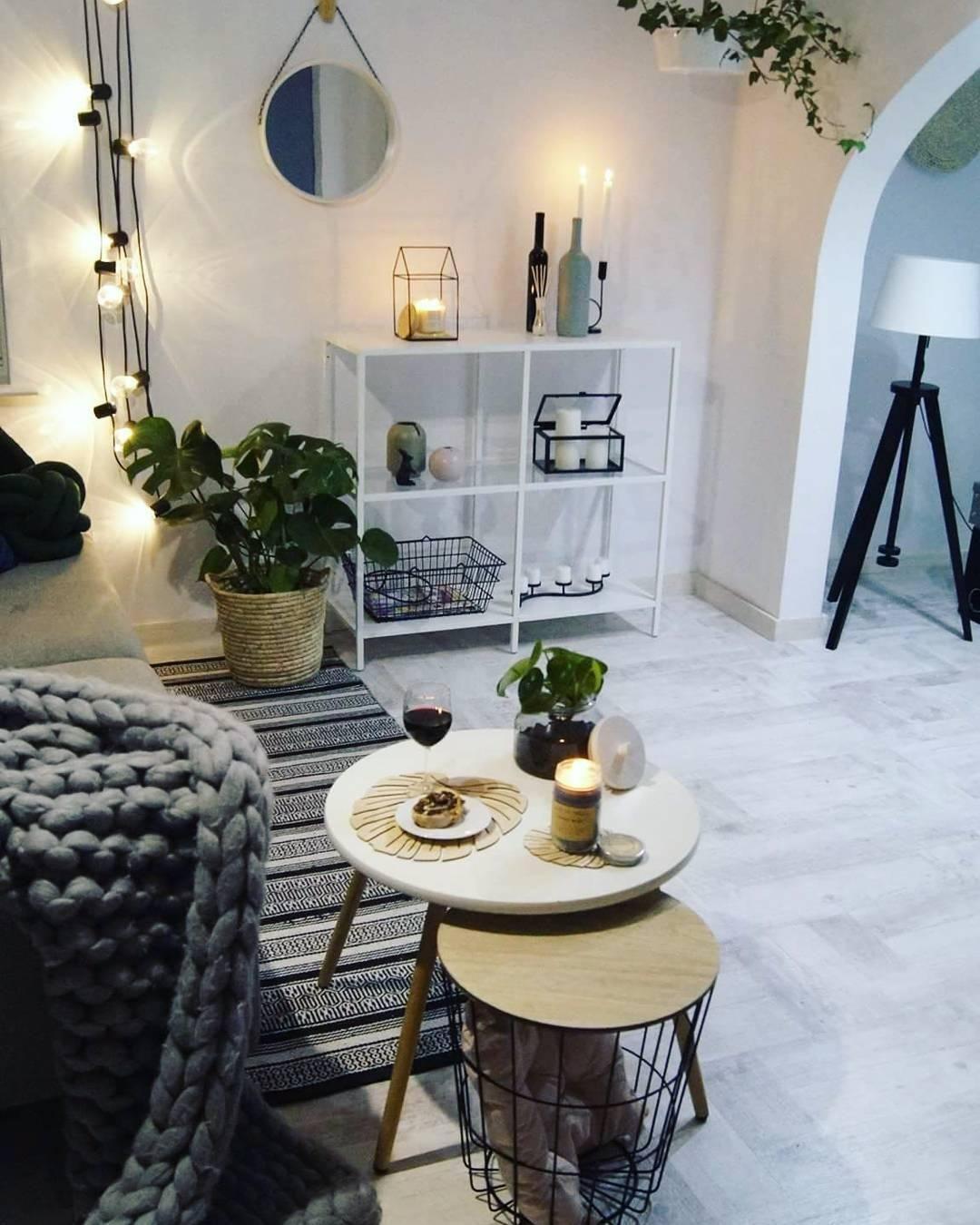 10 Einrichten Lichterkette Wohnzimmer Deko Heimatstil  Living