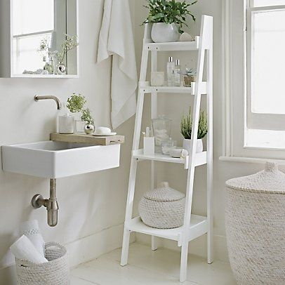 Bathroom Lacquer Ladder Shelf | Bathroom Cabinets & Units ...