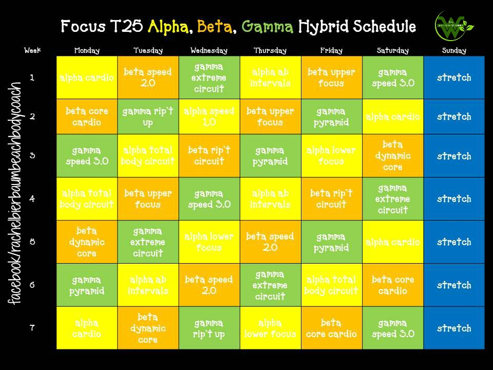 T25 Alpha And Beta Workout Schedule | sport1stfuture org