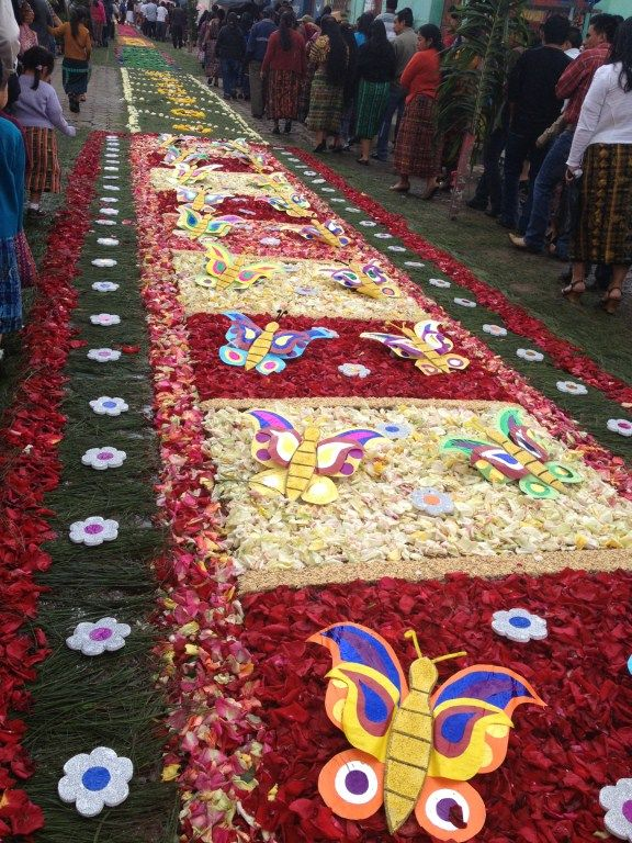 Alfombras de aserr n y flores para la procesi n de corpus christi el 2 de junio 2013 alfombras - Alfombras portugal ...