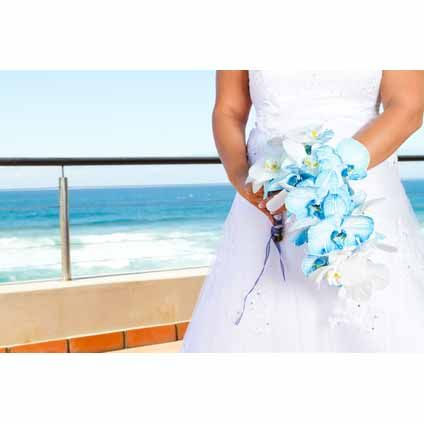 Orchid Wedding Bouquets - I love this light blue color