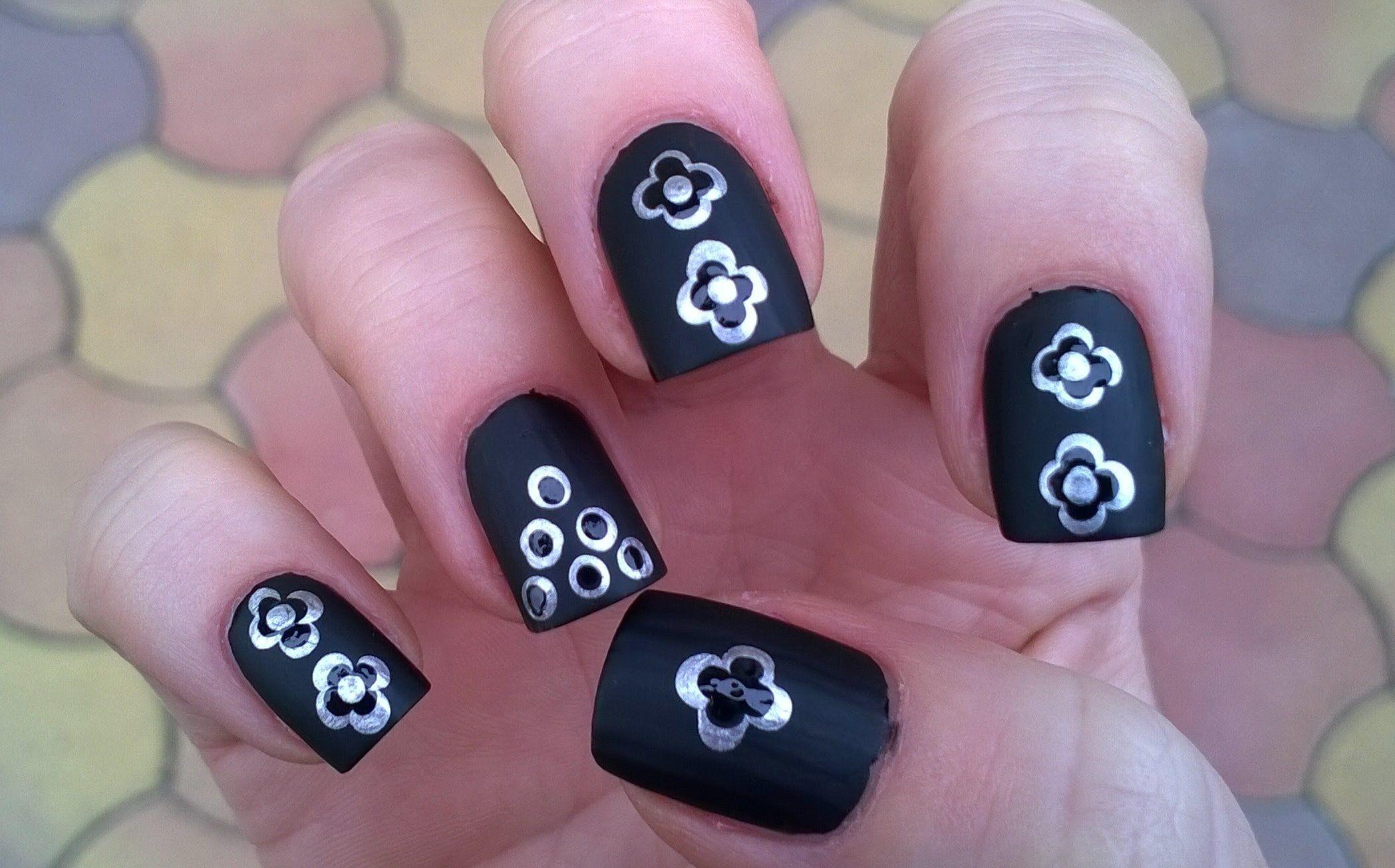Black matte nail polish designs #3 - Monochrome nails by using ...