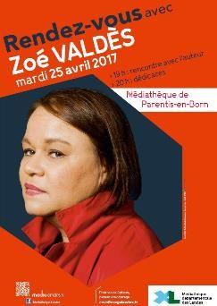 Zoé Valdès, le 25 avril 2017 à la médiathèque de Parentis