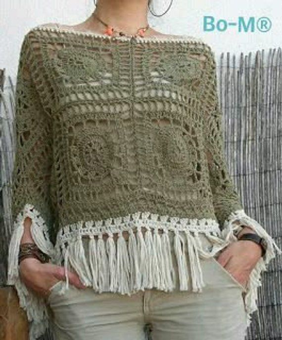 Häkeln Poncho Top #crochettoppatterns
