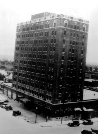 Historical Photo Of Mcalester Oklahoma Showing An Early Picture The Aldridge Hotel