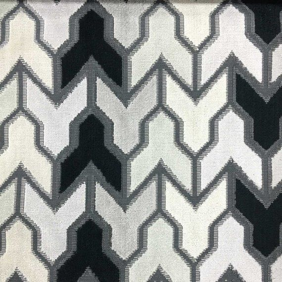 Upholstery Fabric - Rocket - Zinc - Geometric Pattern Cut Velvet Upholstery & Drapery Fabric by the Yard - Available in 14 Colors #velvetupholsteryfabric
