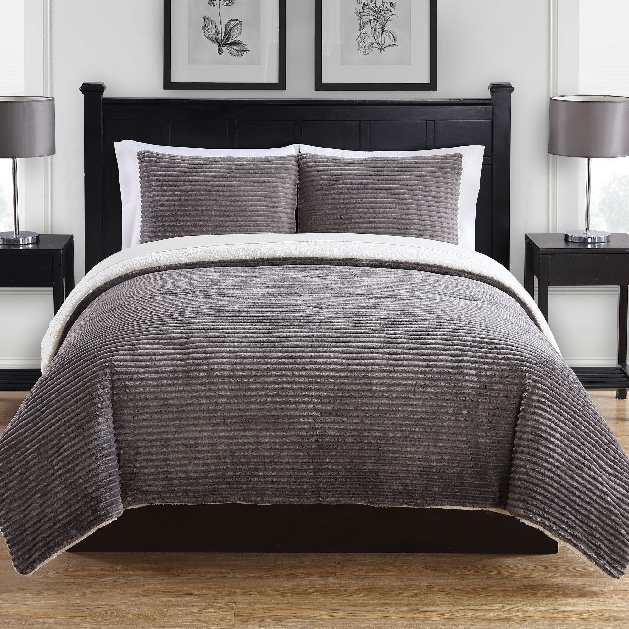 You Ll Love The Ribbed Plush 3 Piece Comforter Set At Allmodern With Great Deals On Modern Bedroom Products And Free Comforter Sets Bedding Sets Bed Spreads
