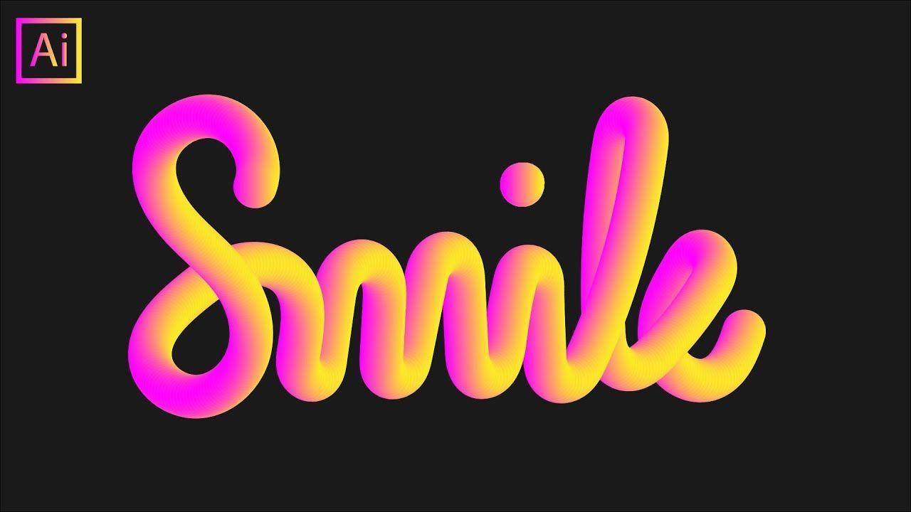 How To Make 3d Effect Lettering In Illustrator Using Blend Tool Logo Design Tutorial Blend Tool Typography Tutorial
