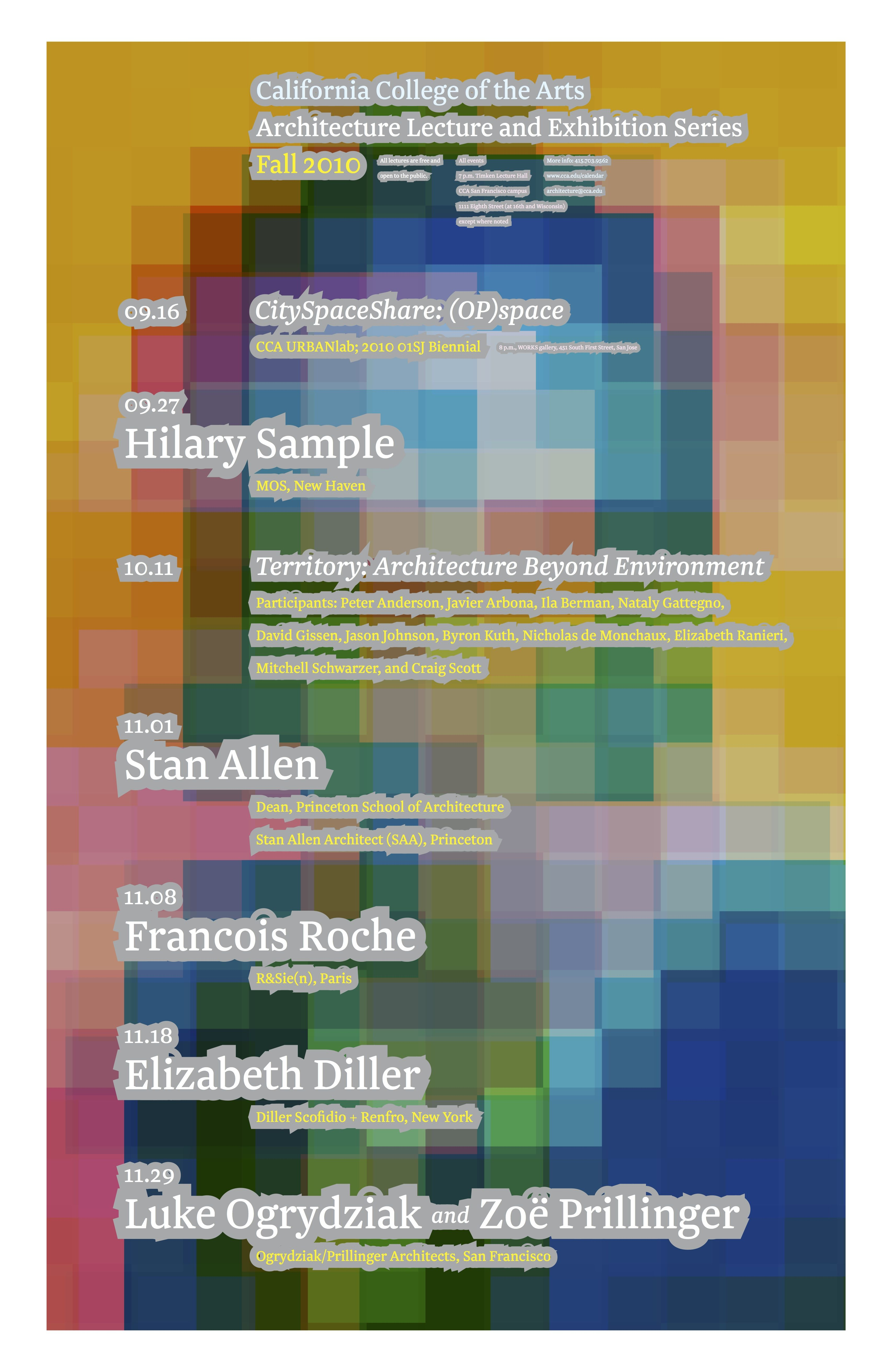 Architecture Lecture Series, Fall 2010.