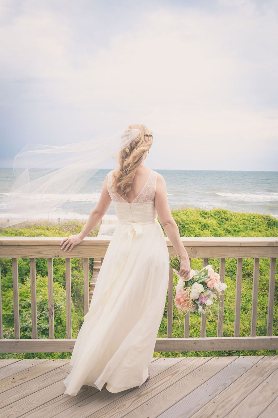 Dye wedding dress after wedding  North Carolina Wedding from Beach Productions  Beach Weddings and