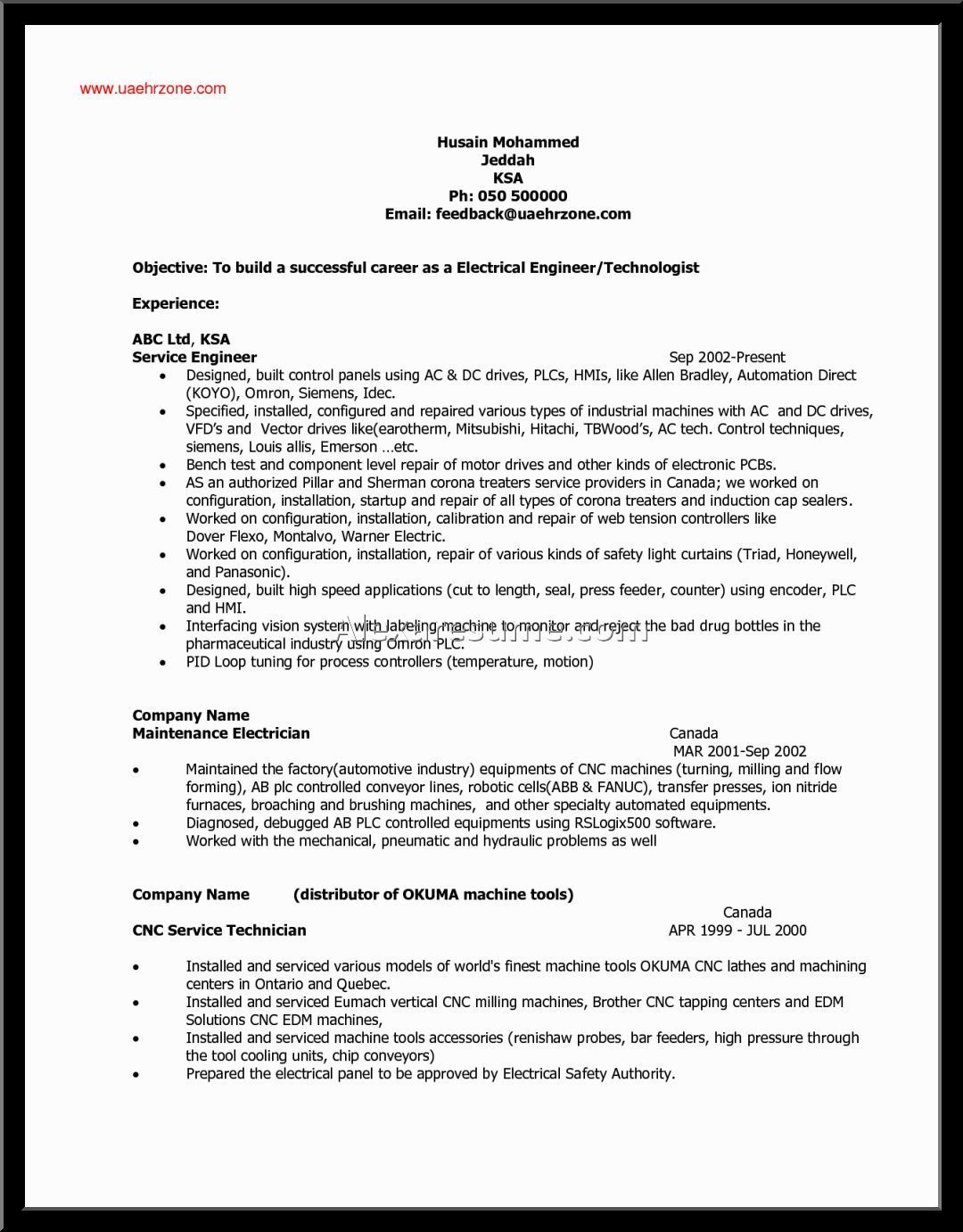 Electrician Resume Letter Example Electrician Resume Examples Tags Engineer Sample