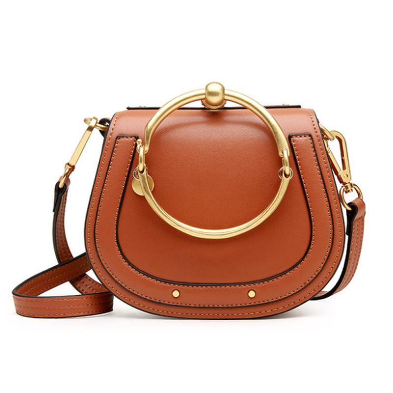 Luxury Women Handbag Designer Split Leather Top Metal Round Handle Oval  Small  LFS  MessengerCrossBodyClutchCrossbody 2e72cfe6645fe