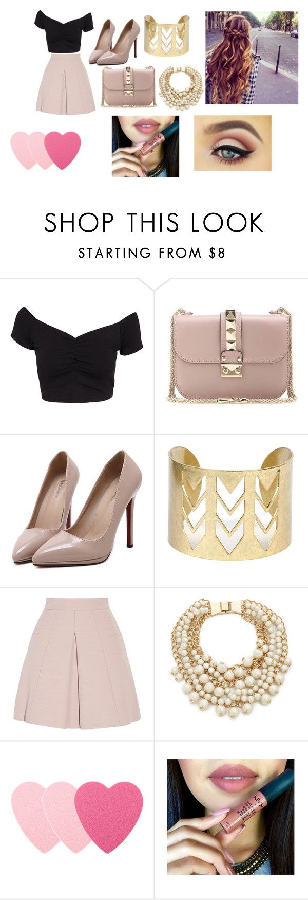 """Untitled #2146"" by bianca-salazar97 ❤ liked on Polyvore featuring NLY Trend, Valentino, WithChic, Alexander McQueen, Kate Spade and Sephora Collection"