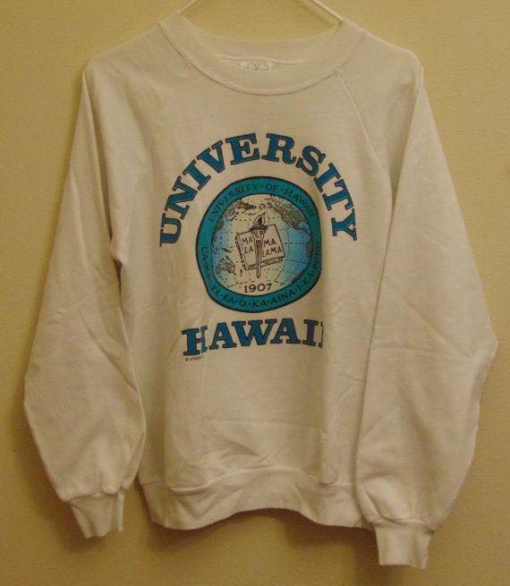 96dbcaa213b SOLD Hawaii Vintage University of Hawaii Sweatshirt by MY2NDJOB on Etsy SOLD