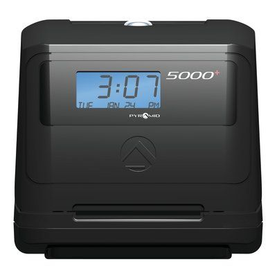 Pyramid 5000 Auto Totaling Time Clock Time Clock Clock Daylight Savings Time
