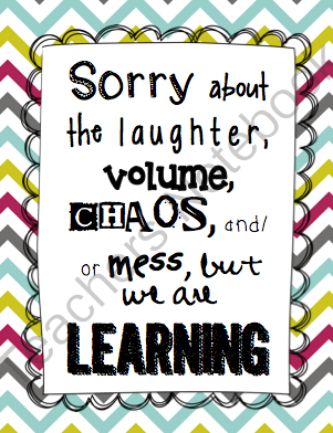 FREE -Here\'s a cute sign for your classroom about the noise ...