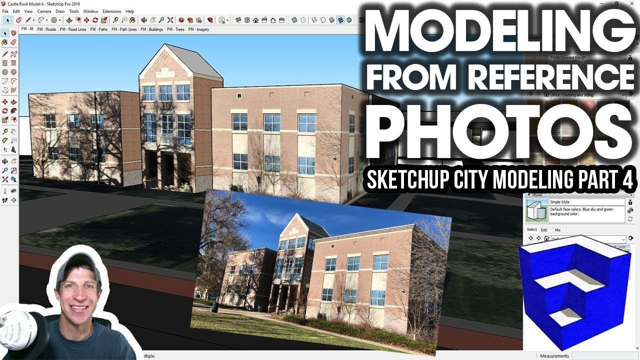 Modeling A City In Sketchup Part 4 Modeling From Reference