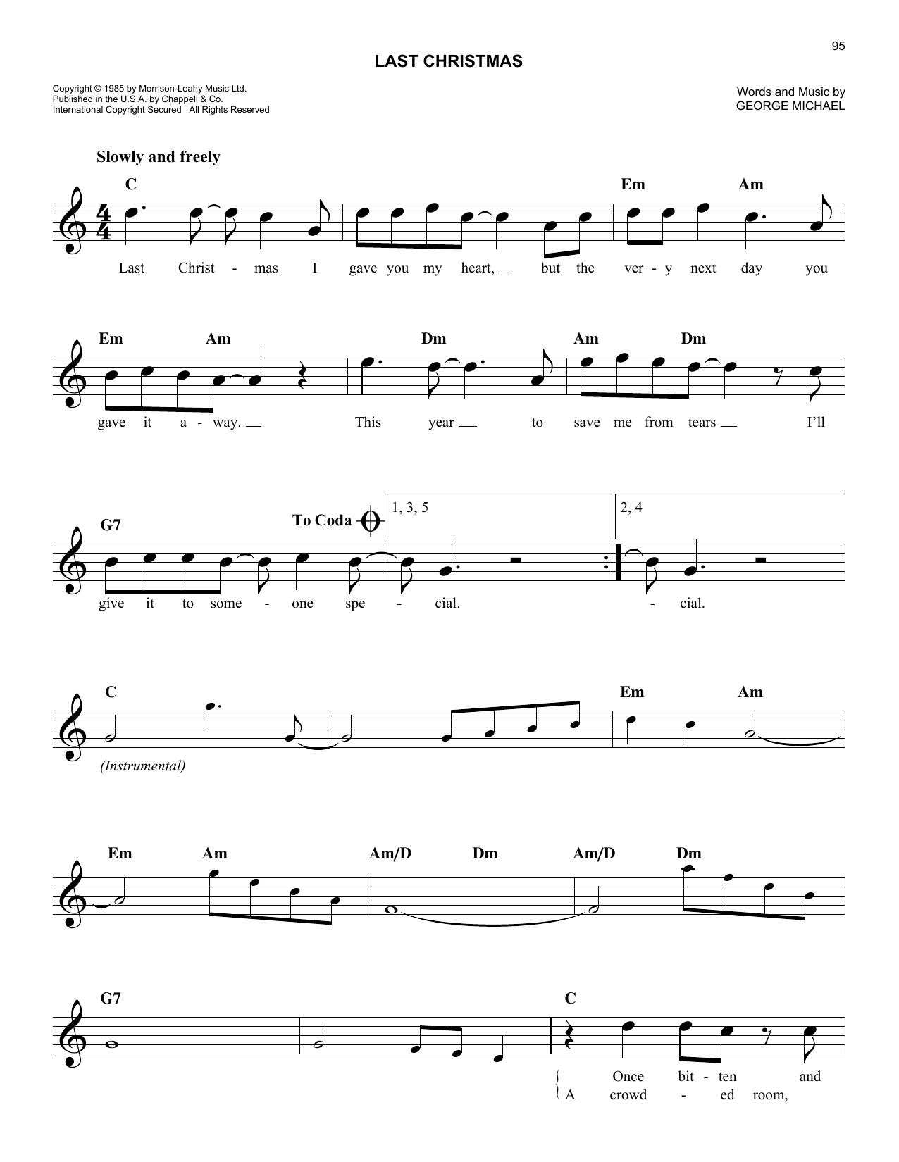 Songtext Last Christmas