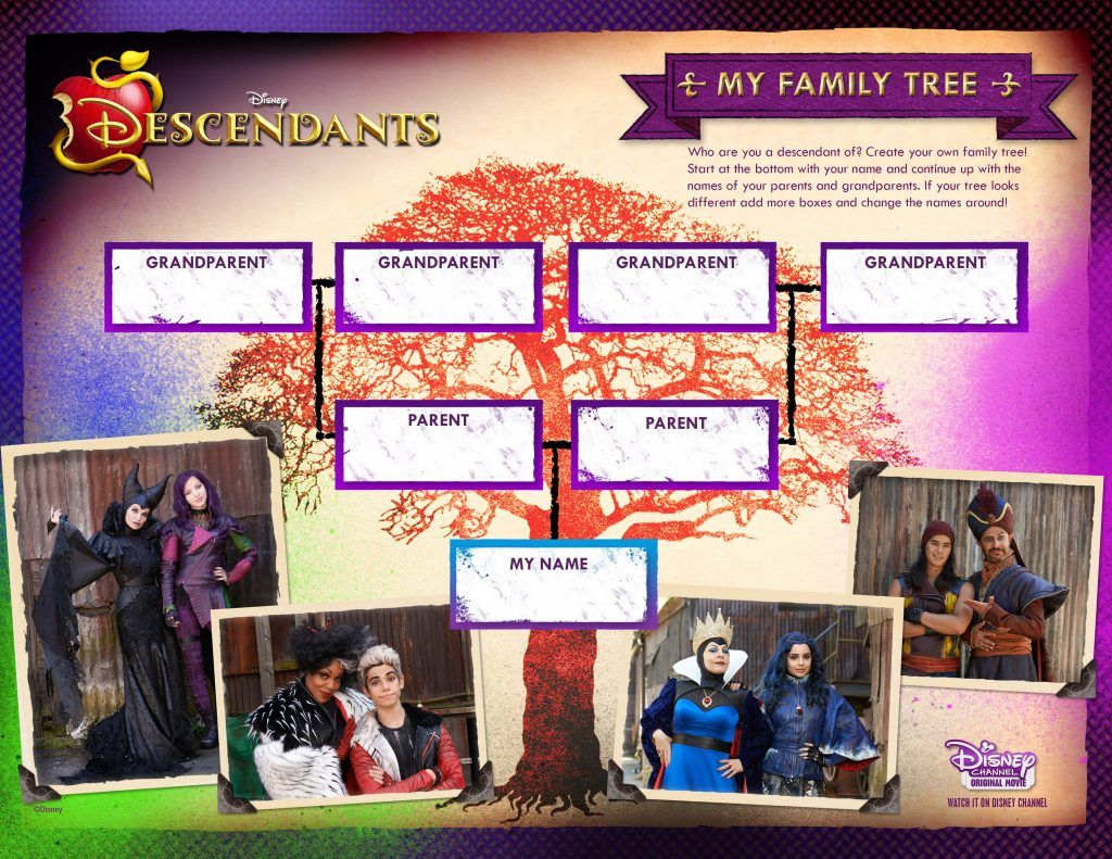 Disney descendants my family tree projects to try pinterest