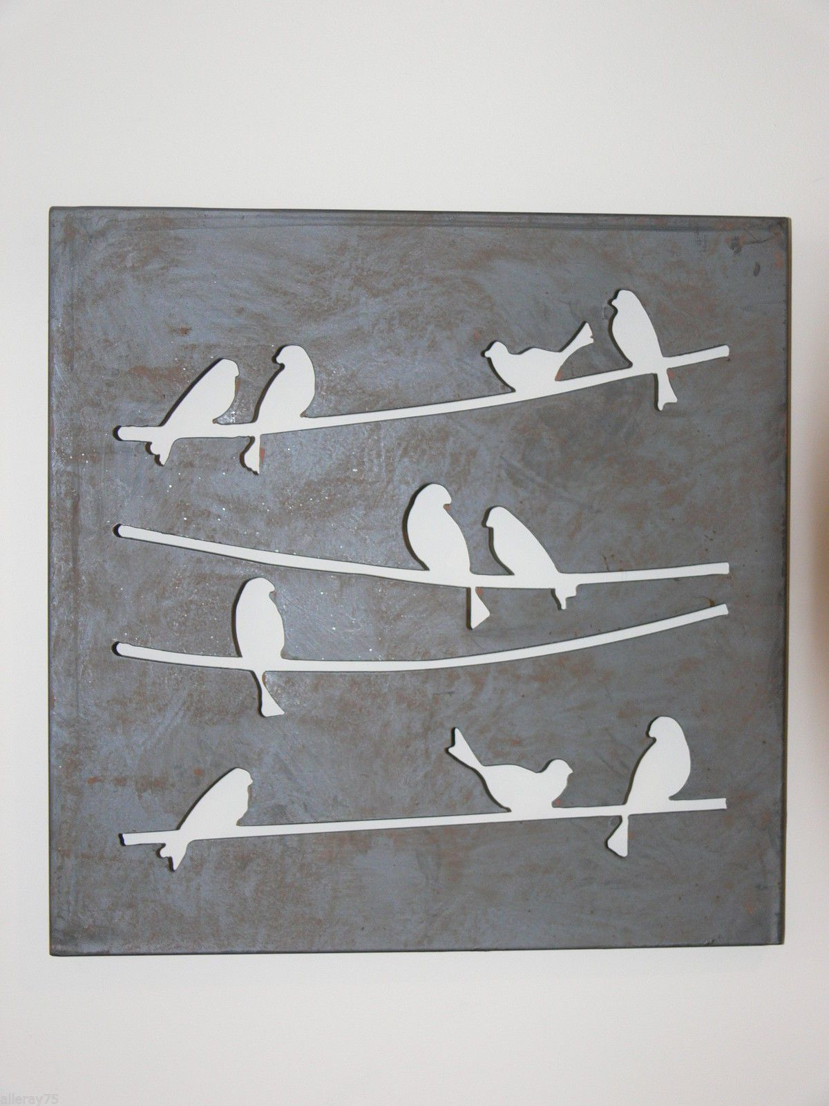 French wall art decor birds metal cut out new rust indoor outdoor ebay