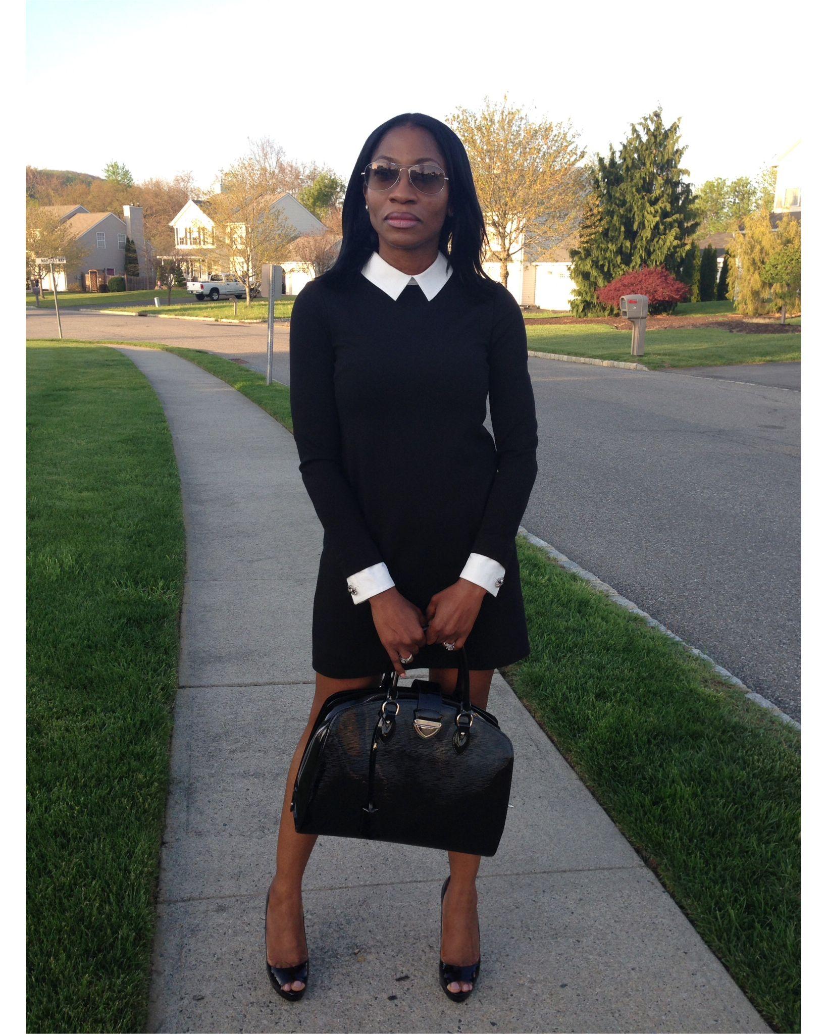 930eedcded1 Dress: Cynthia Steffe; Shoes: Paul & Betty; Bag: Louis Vuitton ...