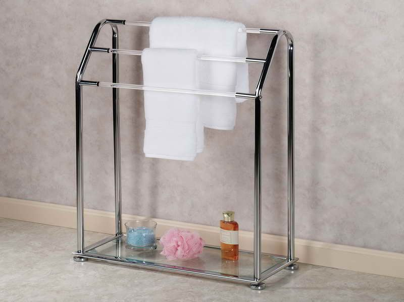 Free Standing Towel Rack Design Home Pinterest Bathroom Towel