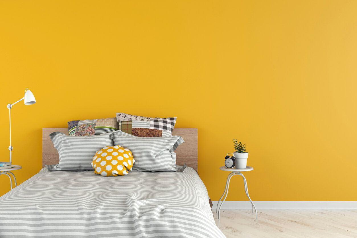 Https Www Wow1day Com Blog Interior Painting What Best Paint Color Dark Rooms Room Wall Colors Yellow Bedroom Walls Best Bedroom Colors Living room yellow wall paint