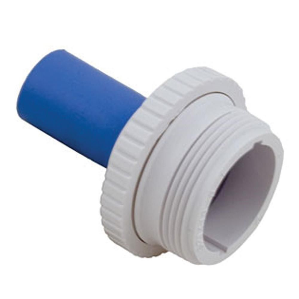 Hayward 1 1 2 In Mip Inlet Fitting Hydrostream With 1 In Rubber Nozzle In White Sp1420 Relief Valve