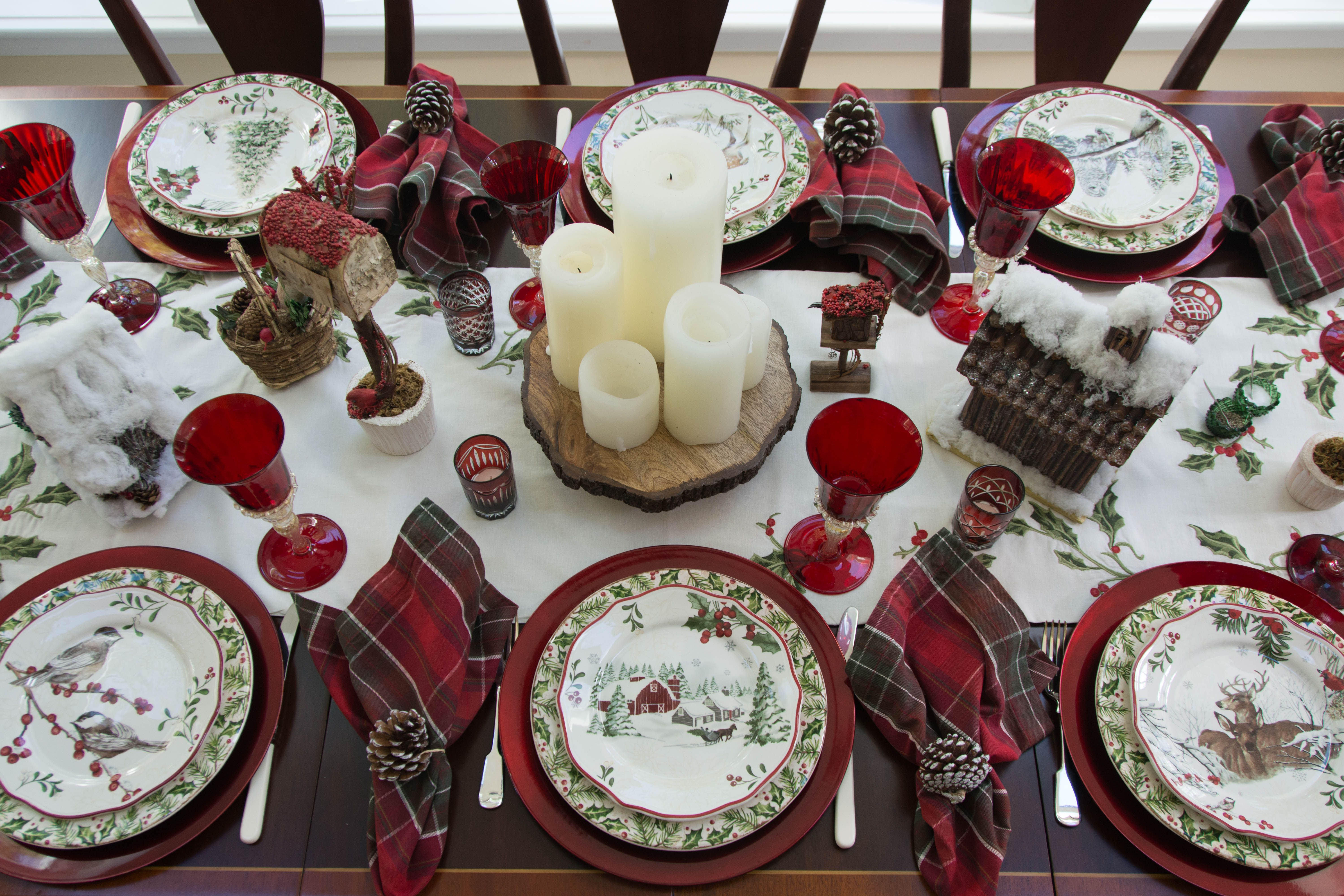 Winter Forest Winter Forest Christmas Table Settings Better