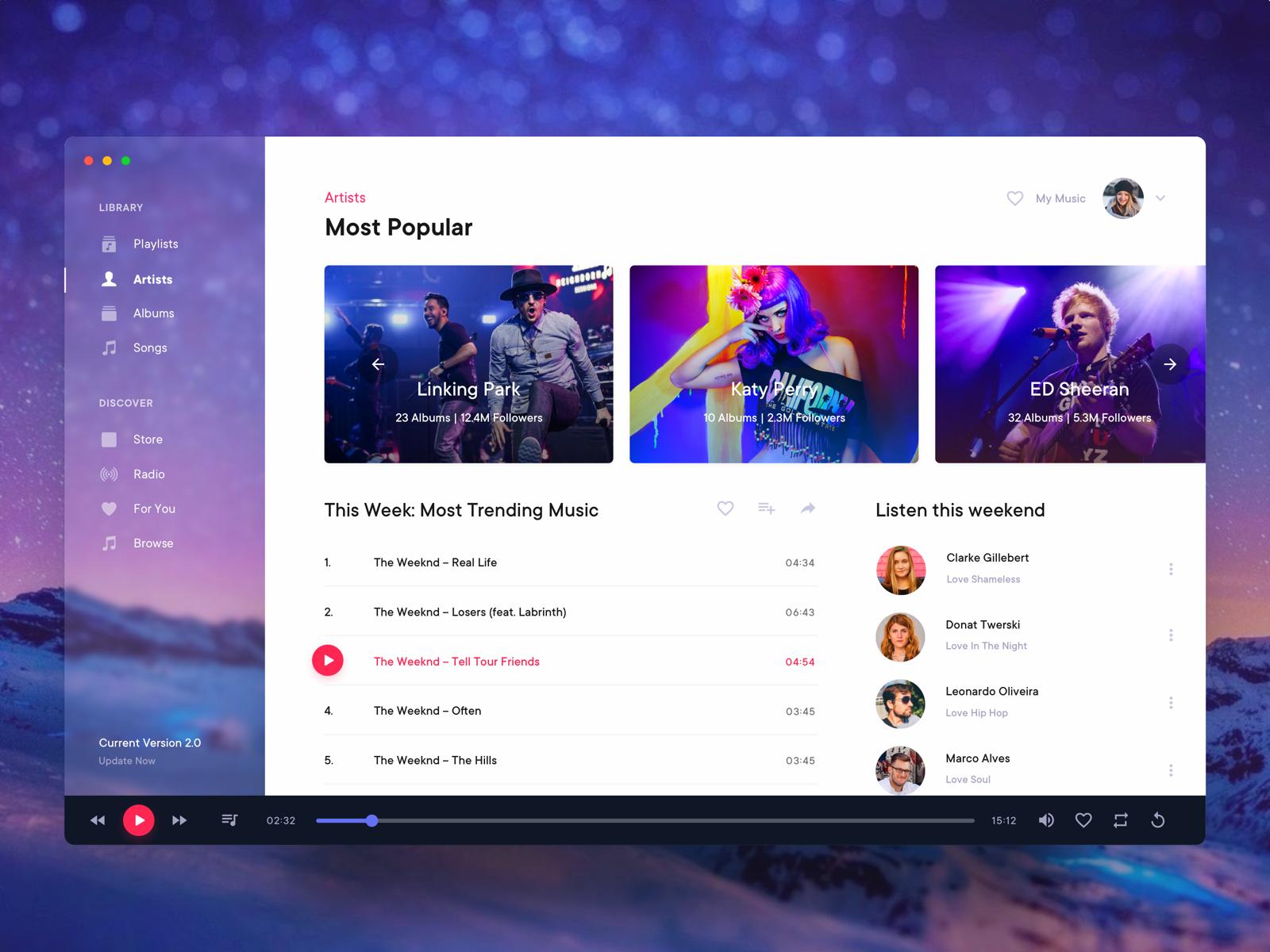 Music Player Desktop Application