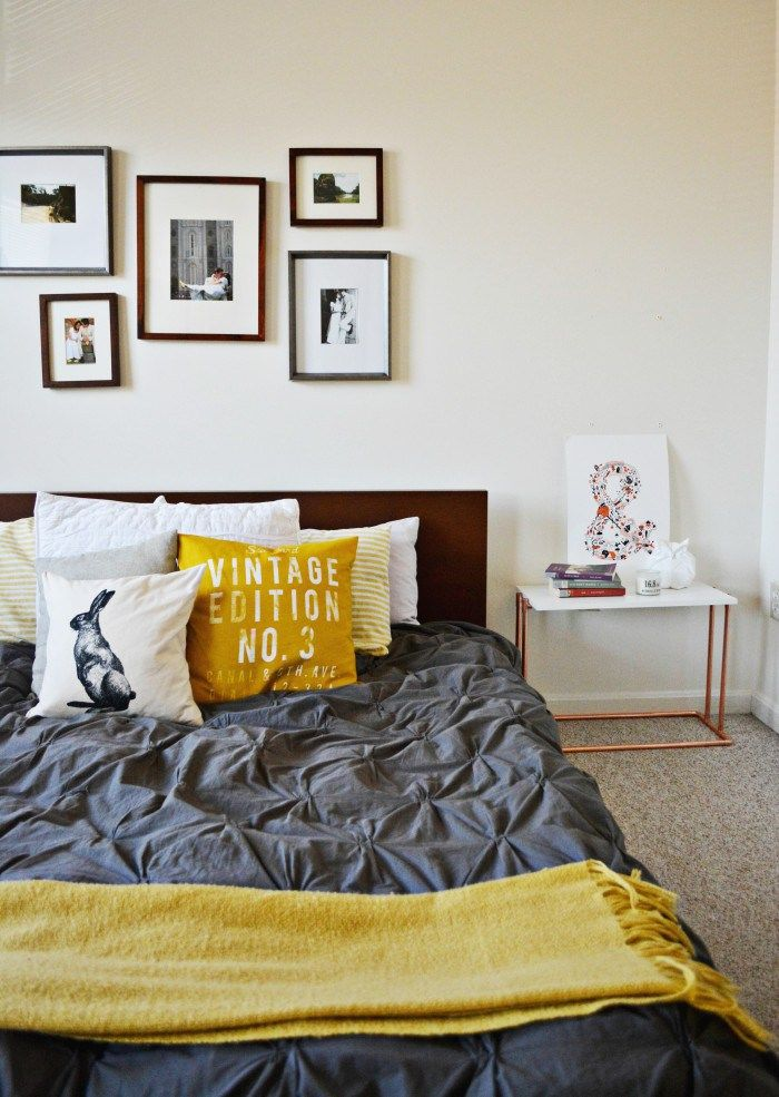 Simple Copper Bedside Table   Decor   Room decor bedroom ...