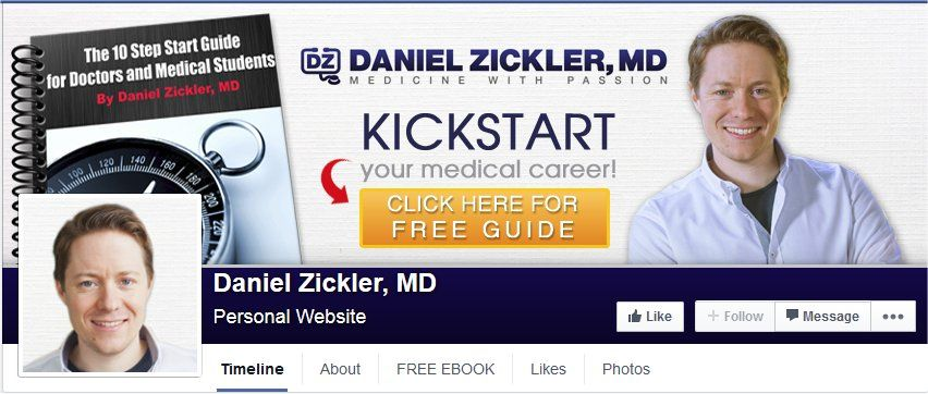 Daniel Zickler, MD Cover Photo on Facebook by Custom Page