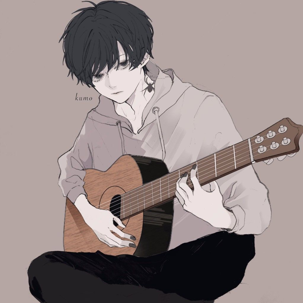 What Can I Do If I Cant Do Nothing But Playing A Guitar Gadis Animasi Gambar Seni Anime