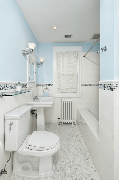 Colored Border Connects Paint And Wainscoting A Colored