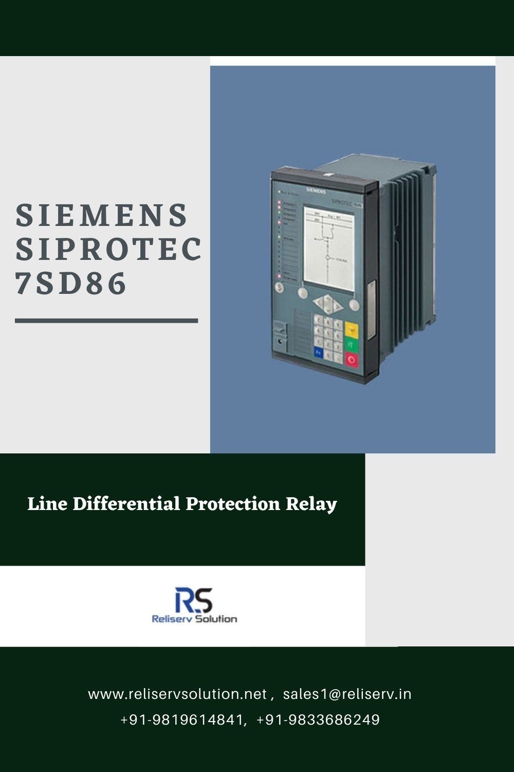 Siemens Siprotec 5 7sd86 Line Differential Protection Relay Siemens Engineering Tools Protection
