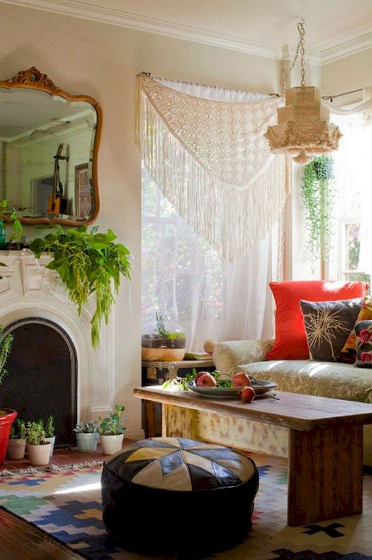 40 awesome boho chic first apartment decor ideas - Boho chic living room decorating ideas ...