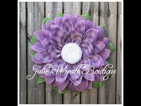 Photo of Spring Flower Tutorial / Facebook Live Replay / Burlap Wreath Tutorial