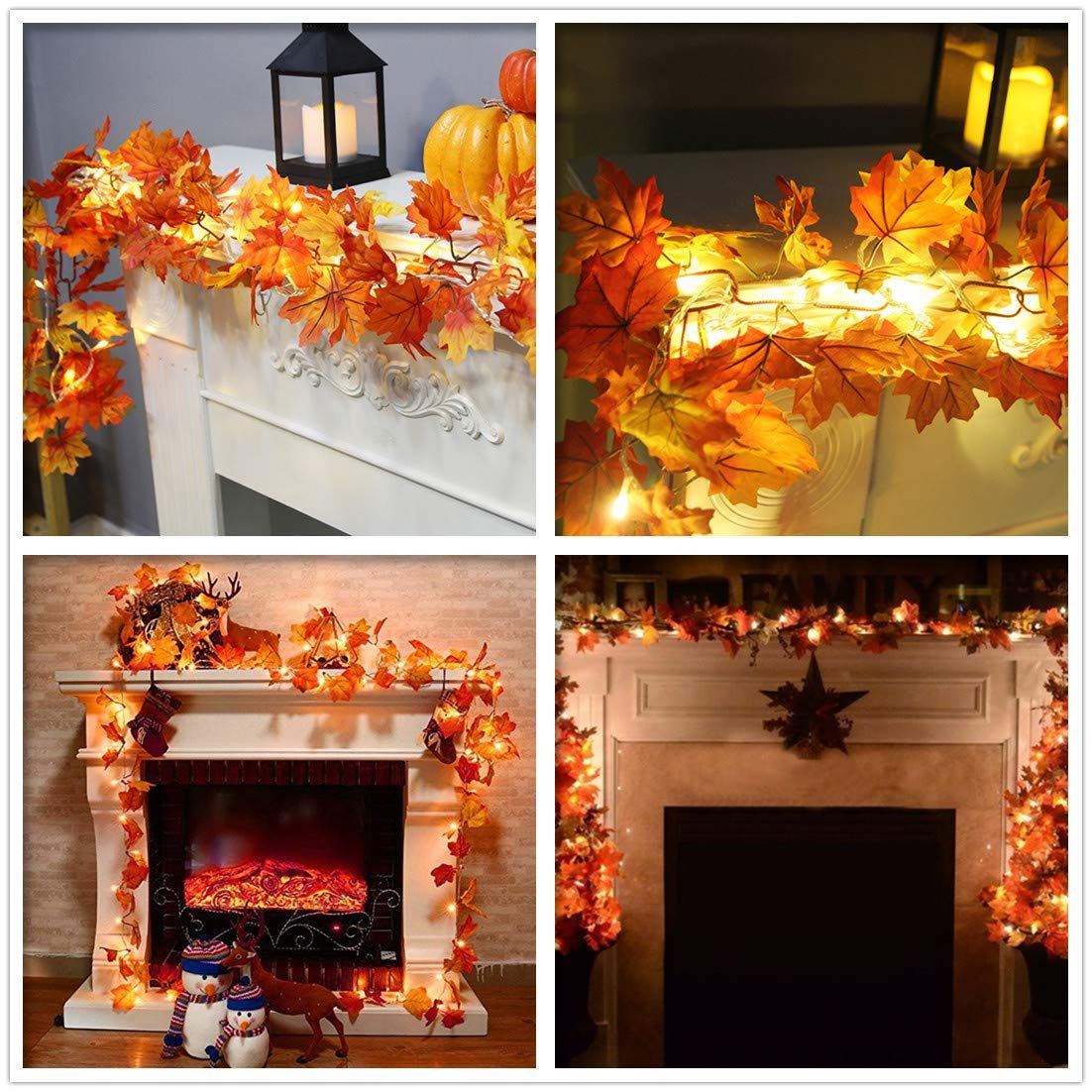Halloween Decorations Props Fireplace LED Light Party Decor