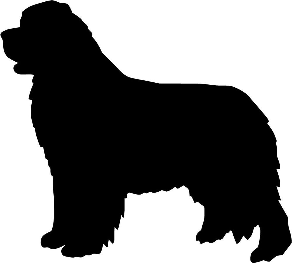 Newfoundland Dog Decal 3 75 X4 15 Select Your Color Stickerpimp