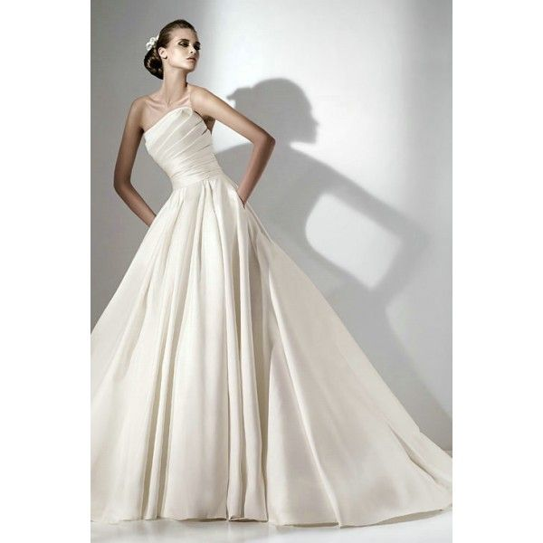 wedding dresses new collection 2013 , Scalloped Edge Satin Strapless Ball Gown Affordable Wedding Gowns , Only $319.00, #scalloped, #satin, #strapless, #ballgown, #weddingdress, #weddinggown, #bridal, #gown, #dress, #wedding