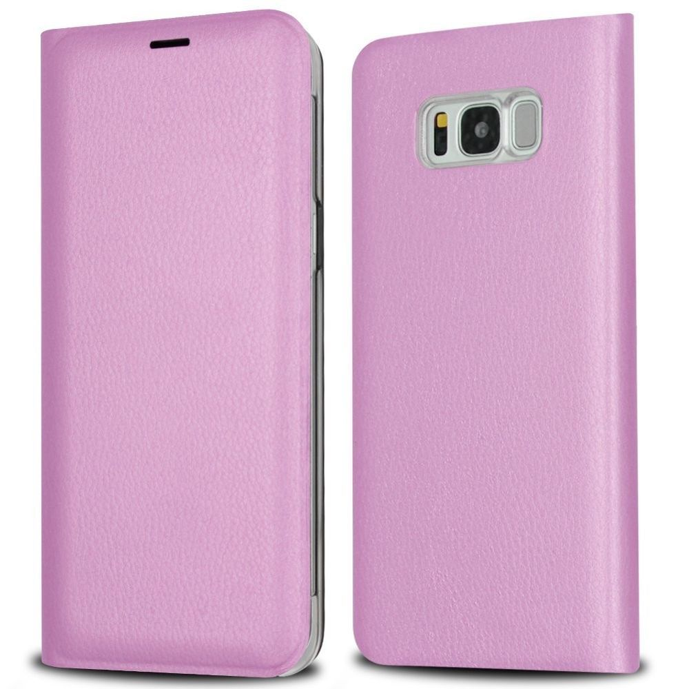 finest selection e8b18 482d7 Samsung Galaxy S8 Case Leather Wallet Case 360° Full Protective Flip ...