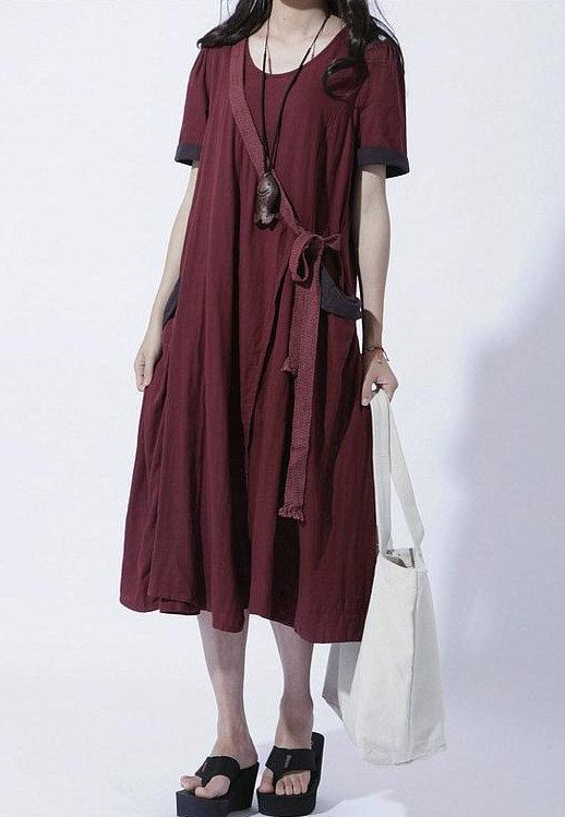 Wine+Red+Summer+Long+vest+Sundressmore+size+choice+by+thesimpson,+$78.00