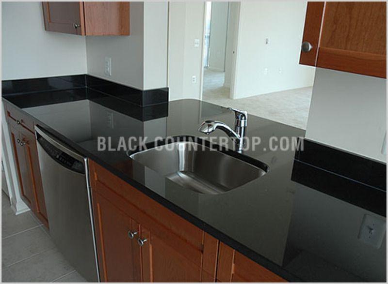 Tile Backsplash With Black Cuntertop Ideas   Granite Countertops, Absolute Black  Kitchen Countertops, Black