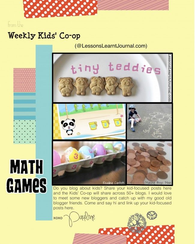 Math Games: The Weekly Kids\' Co-Op