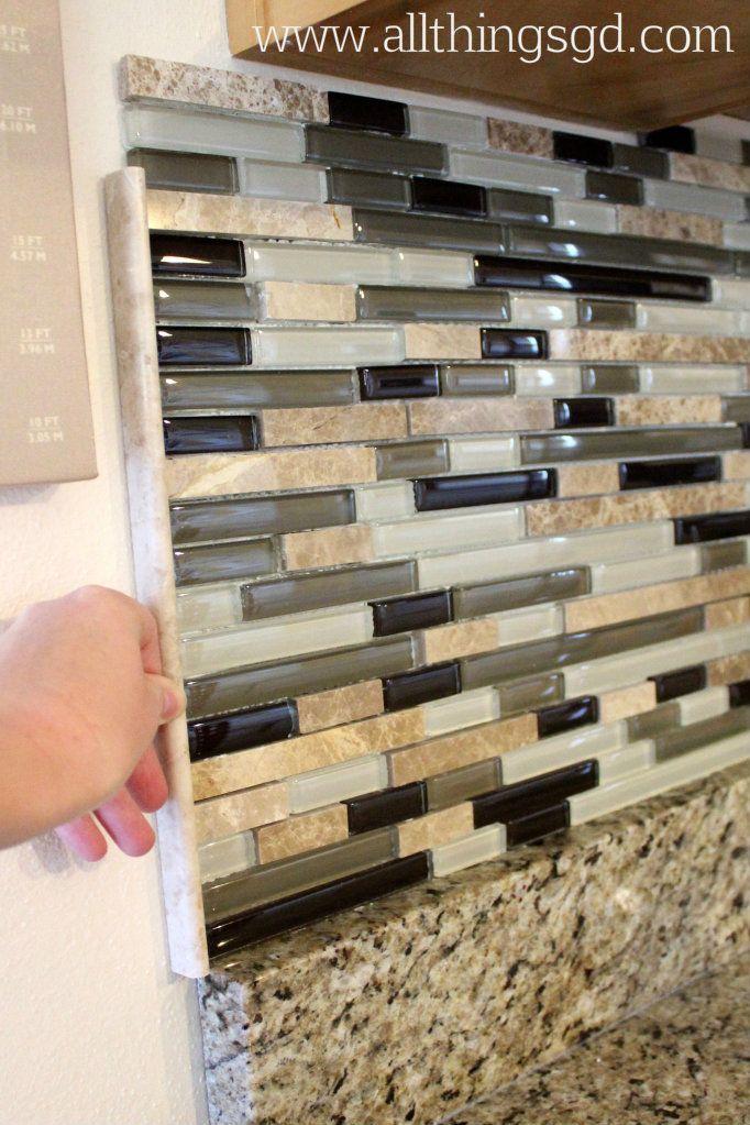 Edge Of Backsplash Part - 45: I Decided To Finish Off The Edge Of Our Tile Backsplash With A Straight,  Clean