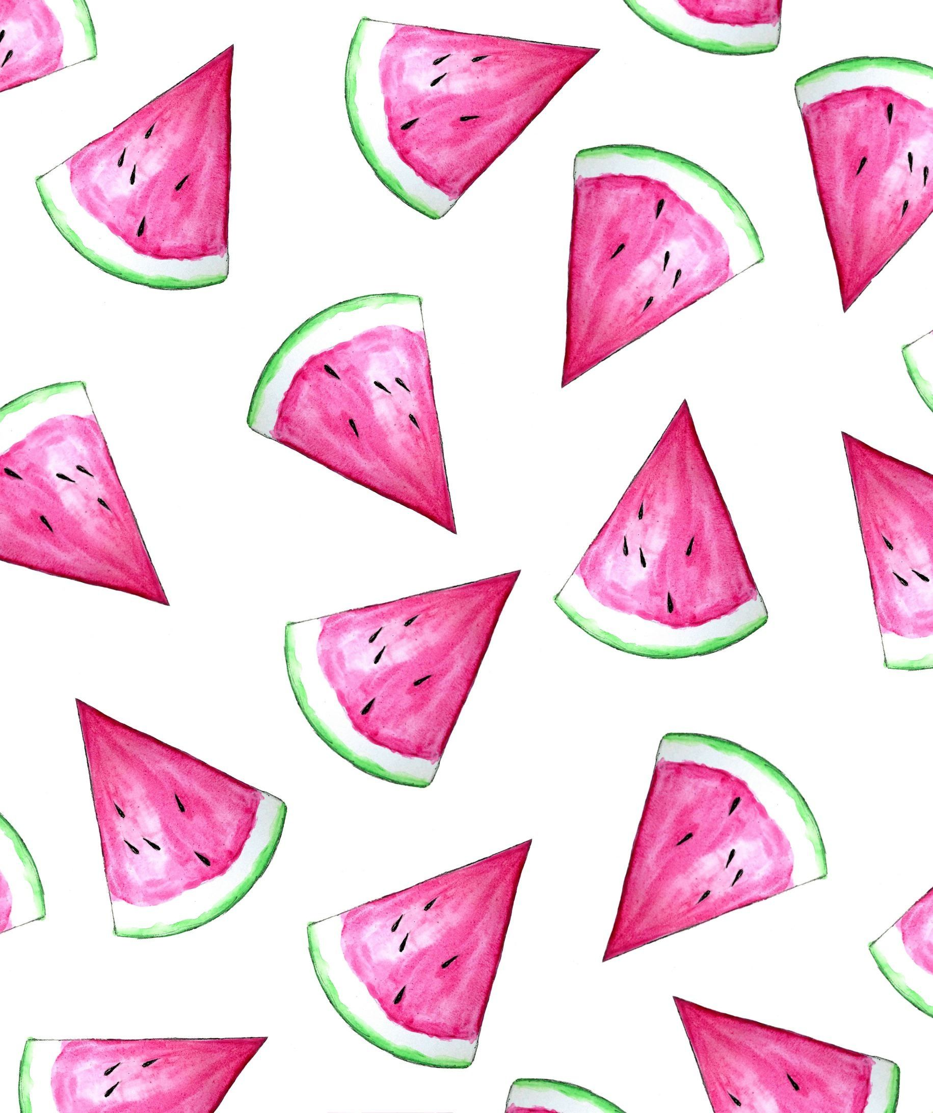 Many Watermelons Watermelon Wallpaper Flamingo Illustration Iphone Wallpaper