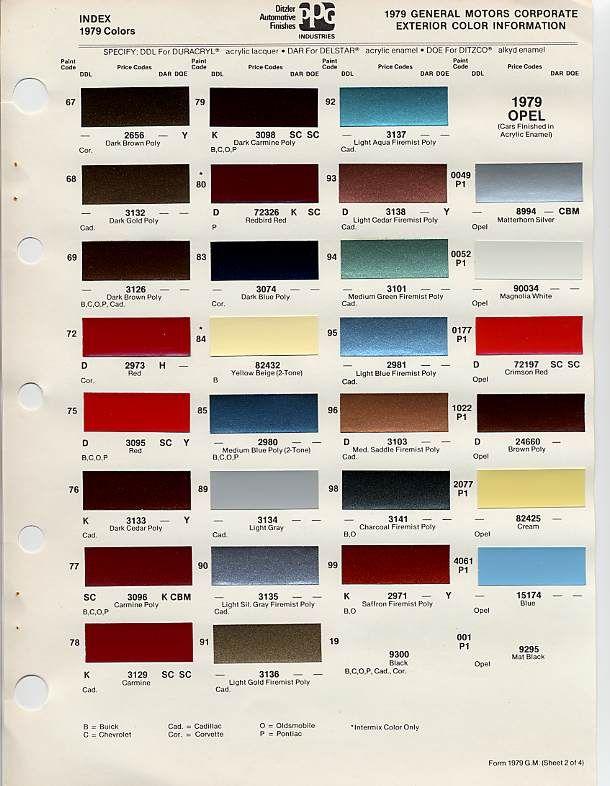 Cadillac Colors 1979 3 Motorcycles Pinterest Cadillac Cars