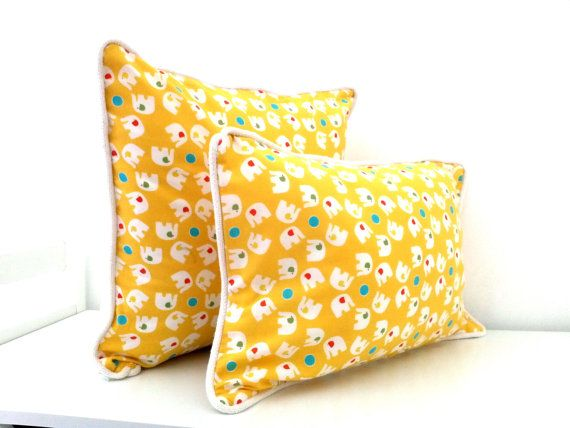 Set of 2 KidsThrow Pillows 18 by 12 and 16 by by CushionsandMore, $40.00