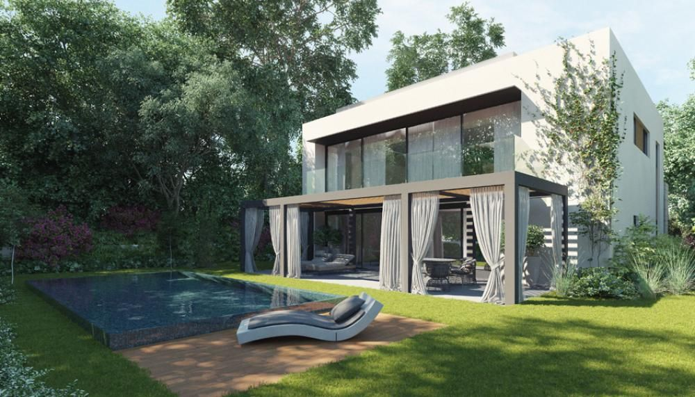 Home design modern two story house design with small swimming pool fresh nuance open modern - Pools in small spaces set ...
