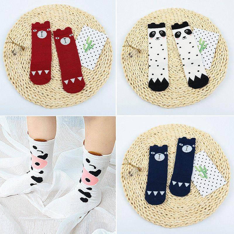 Warm Newborn Socks Unisex Baby Boy Girls Infant Cute Bear Crib Warm Shoes